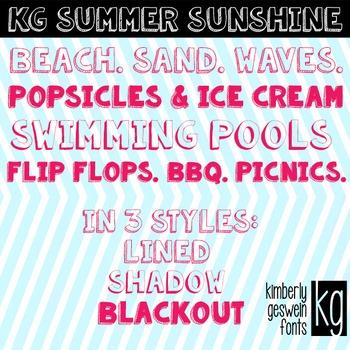 KG Summer Sunshine Font: Personal Use