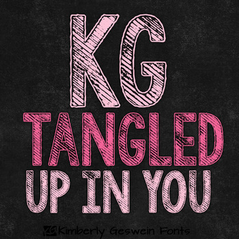 KG Tangled Up In You Font: Personal Use