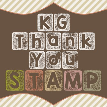 KG Thank You Stamp Font: Personal Use