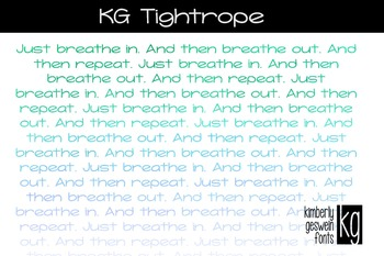 KG Tightrope Font: Personal Use