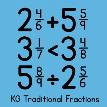 KG Traditional Fractions Font: Personal Use