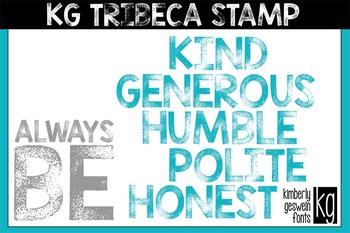 KG Tribeca Stamp Font: Personal Use