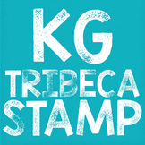 KG Tribeca Stamp Font: Personal Use