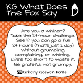 KG What Does the Fox Say? Font: Personal Use