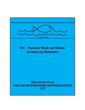 KG1 - Activities and Worksheets