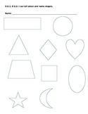 K.G.1, K.G.3- Kindergarten Shapes Assessment