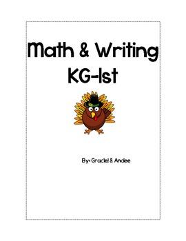 KG/1st Thanksgiving Writing & Math