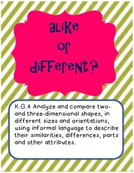 K.G.3 Alike or Different?