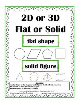 K.G.3 Kindergarten Common Core Worksheets, Activity, and Poster