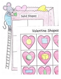 Sort Solid Figures and Flat Shapes Kindergarten Geometry Valentine Center