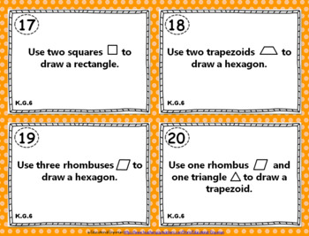 KG4-6 Task Cards: Analyze, Compare, Create, & Compose Shapes KG4|KG5|KG6 Centers