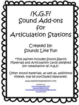 Articulation Station Add-On: /K,G,F/ Sounds
