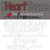 Tracing Font - KHeart Font