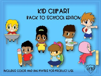 KID CLIP ART: Back to school edition