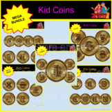 KID COIN BUNDLE-- NUMBERS, SHAPES, LETTERS, MATH SIGNS
