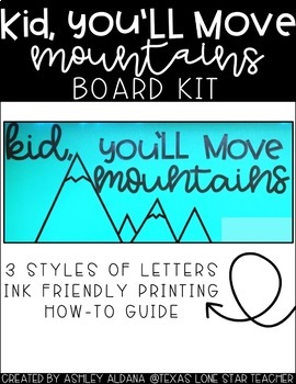 KID YOU'LL MOVE MOUNTAINS BOARD KIT