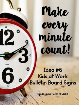 KIDS AT WORK - Learning Zone Ahead - Bulletin Board Signs