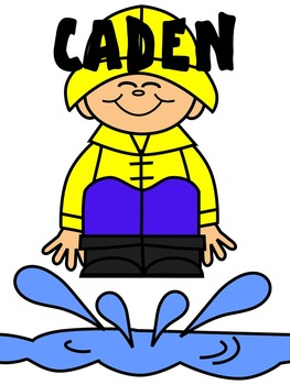 KIDS CLIP ART * CADEN * COLOR AND BLACK AND WHITE
