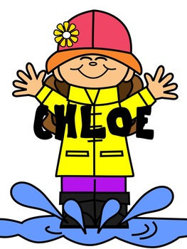 KIDS CLIP ART * CHLOE * COLOR AND BLACK AND WHITE