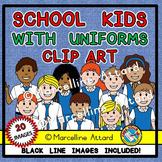 SCHOOL KIDS CLIPART: KIDS IN UNIFORM CLIPART: BACK TO SCHO