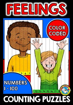 KIDS COUNTING PUZZLES: KIDS FEELINGS