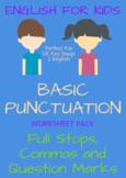 KIDS ENGLISH Punctuation ... 21 Worksheets!!!!!