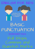 KIDS ENGLISH Punctuation ... 21 Worksheets!!!!!