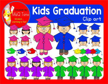 KIDS GRADUATION CLIPARTS