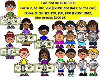 KIDS HOLDING U.S MONEY CLIP ART
