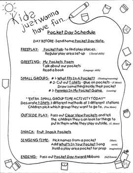 ...POCKET DAY PACKET