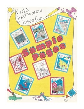 SAMPLE PAGES- a few pages from each of our Kids Just Wanna Have Fun- theme books