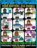 KIDS TEN FRAMES- WINTER EDITION- MEGA BUNDLE PACK-242 IMAGES- COMMERICAL USE