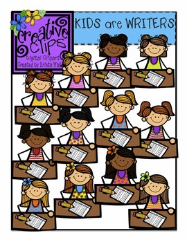 KIDS are Writers! {Creative Clips Digital Clipart}