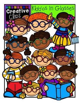 KIDS in Glasses {Creative Clips Digital Clipart}