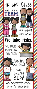 KIDS of COLOR - Classroom Decor: LARGE BANNER, In Our Class