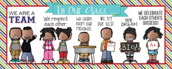 KIDS of COLOR - Classroom Decor: LARGE BANNER, In Our Class - horizontal