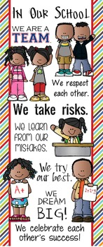 KIDS of COLOR - Classroom Decor: LARGE BANNER, In Our School