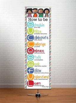 KIDS of COLOR - Classroom Decor: XLARGE BANNER, How to be Successful