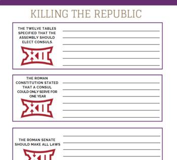 KILLING THE REPUBLIC:  JULIUS CAESAR & AUGUSTUS