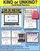 """KIND or UNKIND Social Media Comments TASK CARDS """"Task Box Filler"""" SOCIAL SKILLS"""