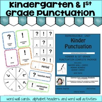 KINDER & 1ST GRADE PUNCTUATION