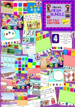KINDER Maths Smart Notebook and Unit of Work Learning to Count MEGA BUNDLE 1