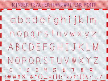 KINDER TEACHER HANDWRITING FONT
