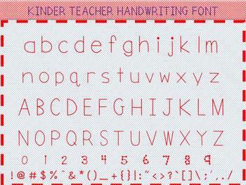 KINDER TEACHER HANDWRITING FONT