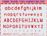 KINDER TEACHER THICK FONT