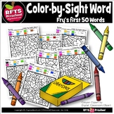 KINDERGARTEN - FRY'S FIRST 50 COLOR-SIGHT-WORDS