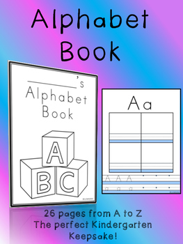 KINDERGARTEN/1ST NO PREP Alphabet ABC Letter Writing Book