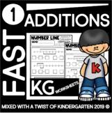 Kindergarten Number Line Addition