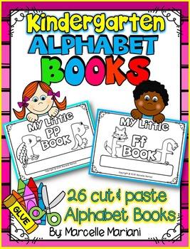 ALPHABET LETTER BOOKS- Color, cut & paste alphabet books (