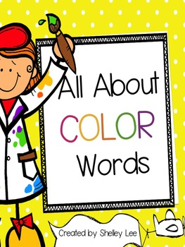 Preschool Color Words Folder Game and Printables